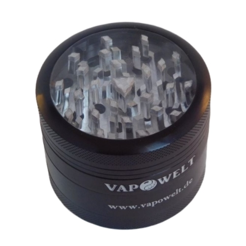 Aluminum grinder with window (48 mm) * Black *