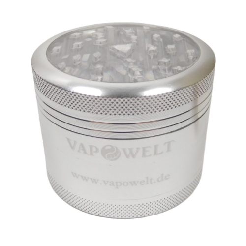 Alu Grinder with Window (48 mm) *Silver*
