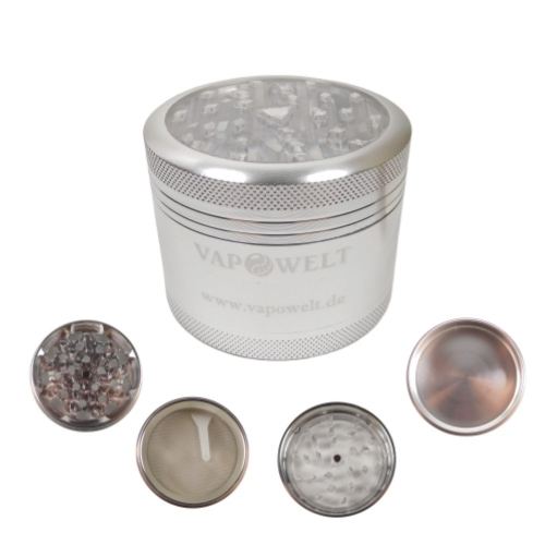 Alu Grinder with Window (50 mm) *Silver*