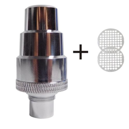 Flowermate Water Filter Adapter (Stainless Steel) + 2 Screens