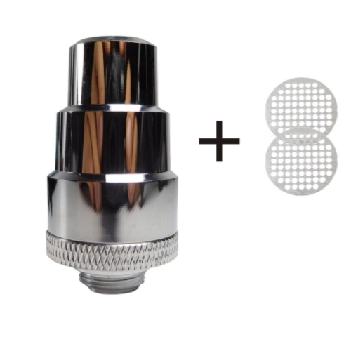 FocusVape FlowerMate Mini Water Filter Adapter (Stainless Steel) incl. 2 Screens