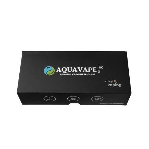 AquaVape³ Water Filter with 10 to 14 Adapter short made of glass for  Davinci IQ / MIQRO