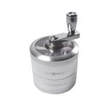 Deluxe Aluminum Crank Grinder with Window (50 mm) *Silver*