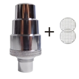 FlowerMate Water Filter Adapter made of stainless steel (m:14/18; w:10/14/18/19) + 2 Steel Sieve