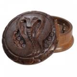 Rosewood Grinder Cobra Carved